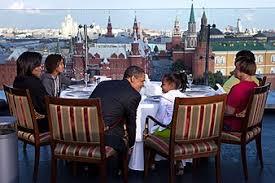 Familien Obama på Ritz Carlton