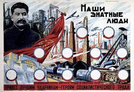 Propagandaplakat med Joseph Stalin