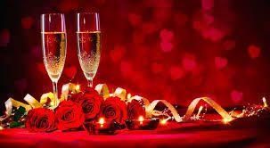 Champagne på Valentines dag