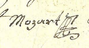 Wolfgang Amadeus Mozarts underskrift
