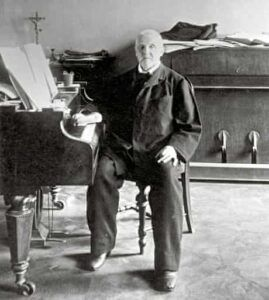 Anton Bruckner at the piano