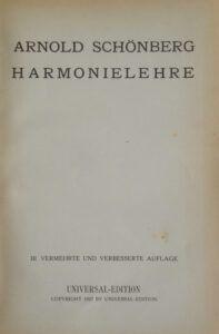 Arnold Schoenberg HarmonieLehre