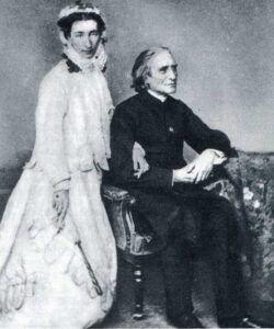 Franz Liszt med datter Cosima Wagner