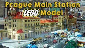 Legosæt til Prags hovedbanegård