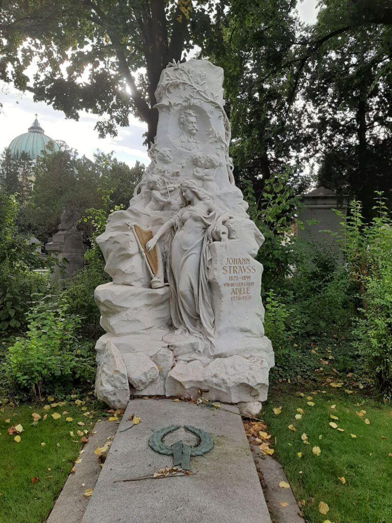 Gravmæle over Johann Strauss Jr.