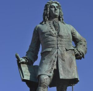 Georg Friedrich Händel statue på Halle torv