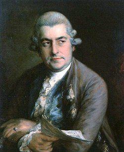 Johann Christian Bach, yngste søn af J. S. Bach. Malet af Thomas Gainsborough