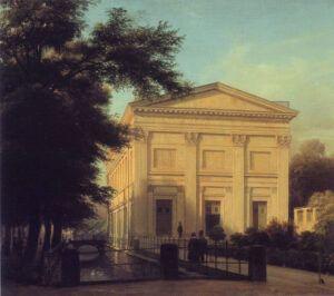 Det preussiske Sing-Akademie 1843. Oliemaleri af Eduard Gartner