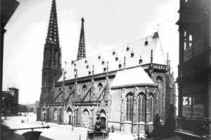 Sophienkirche Dresden hvor Wilhelm Friedmann Bach får sit første job i 1733