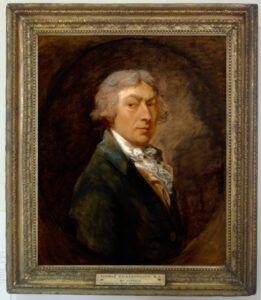 Thomas Gainsborough, selvportræt. Ven af Johann Christian Bach. Også kaldet 'London Bach'.